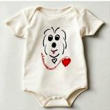 coton de tulear baby bodysuit