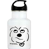 coton de tulear water bottle
