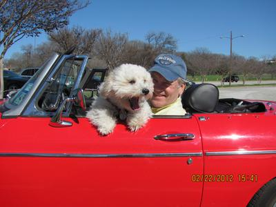 Charlie and Jim cruising the lake