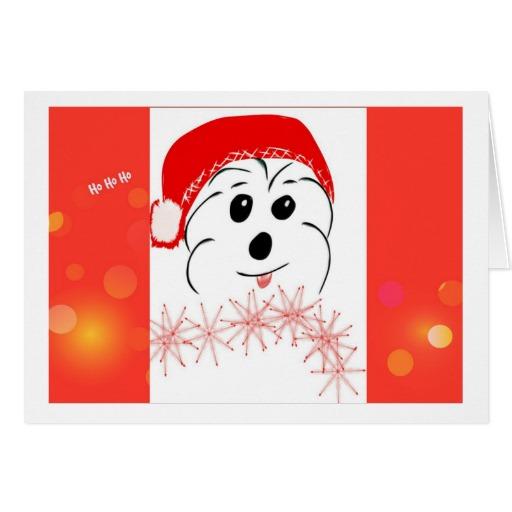 Coton de Tulear Christmas card