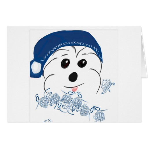 Coton de Tulear Hanukkah card