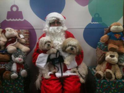 Spanky & Gleason pic with Santa