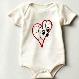 coton de tulear baby romper