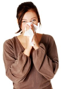 woman with allergie