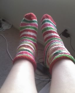 My clean Xmas socks before Zero finds them.